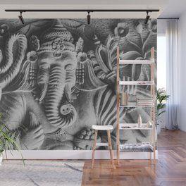 ganesha wall mural  printed shower curtain wall murals room