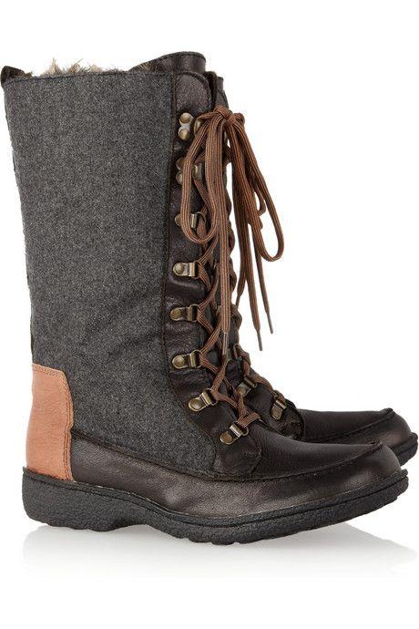 2bc2a86f635a7 Sam Edelman Mariela faux fur-lined leather and felt boots
