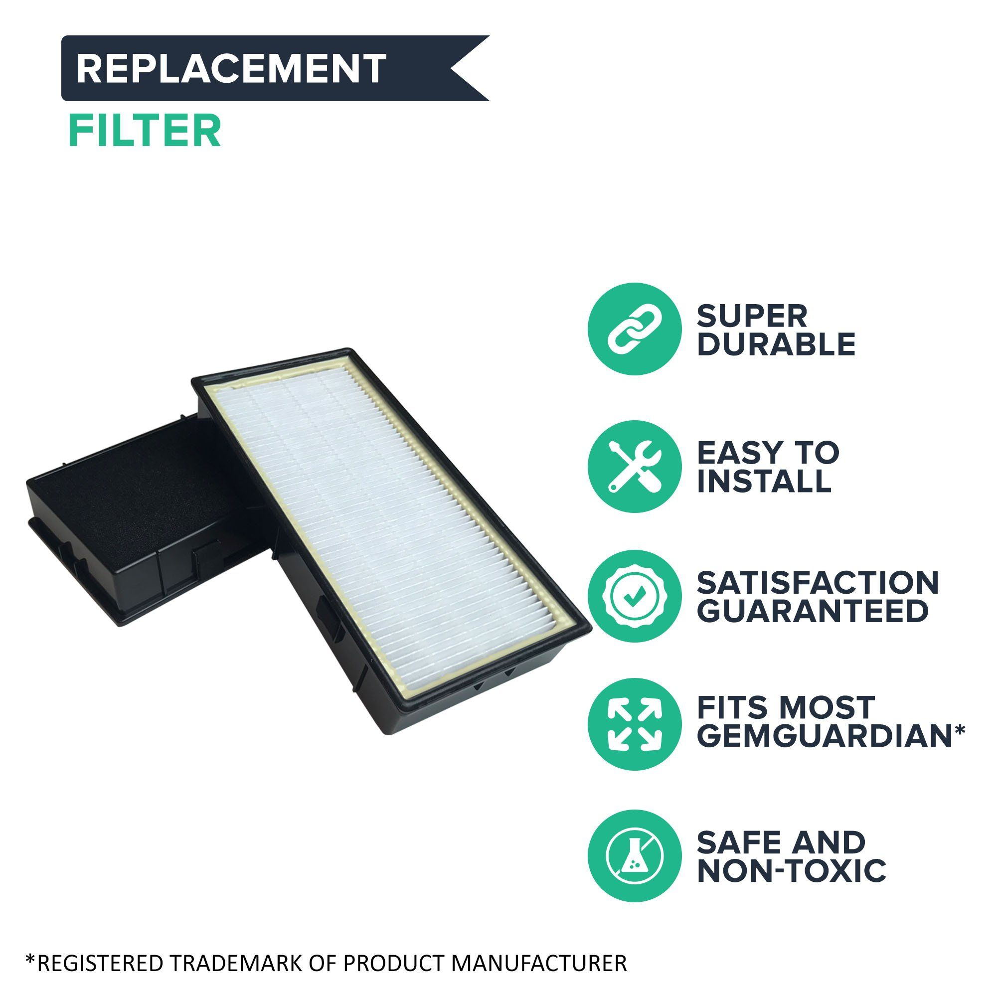 Think Crucial 4 Replacement GermGuardian C Pet Filter Fits