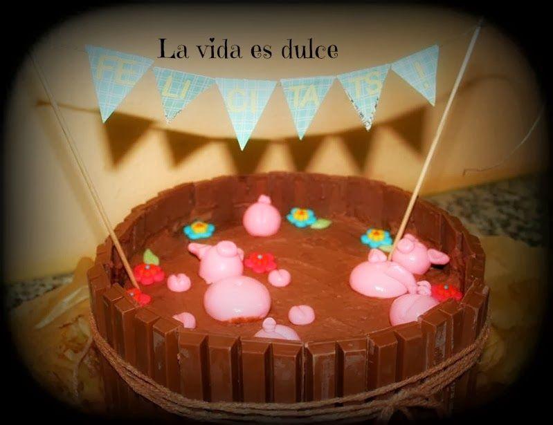Cerditos Bañandose En Chocolate Chocolate Tarta De Chocolate Tartas