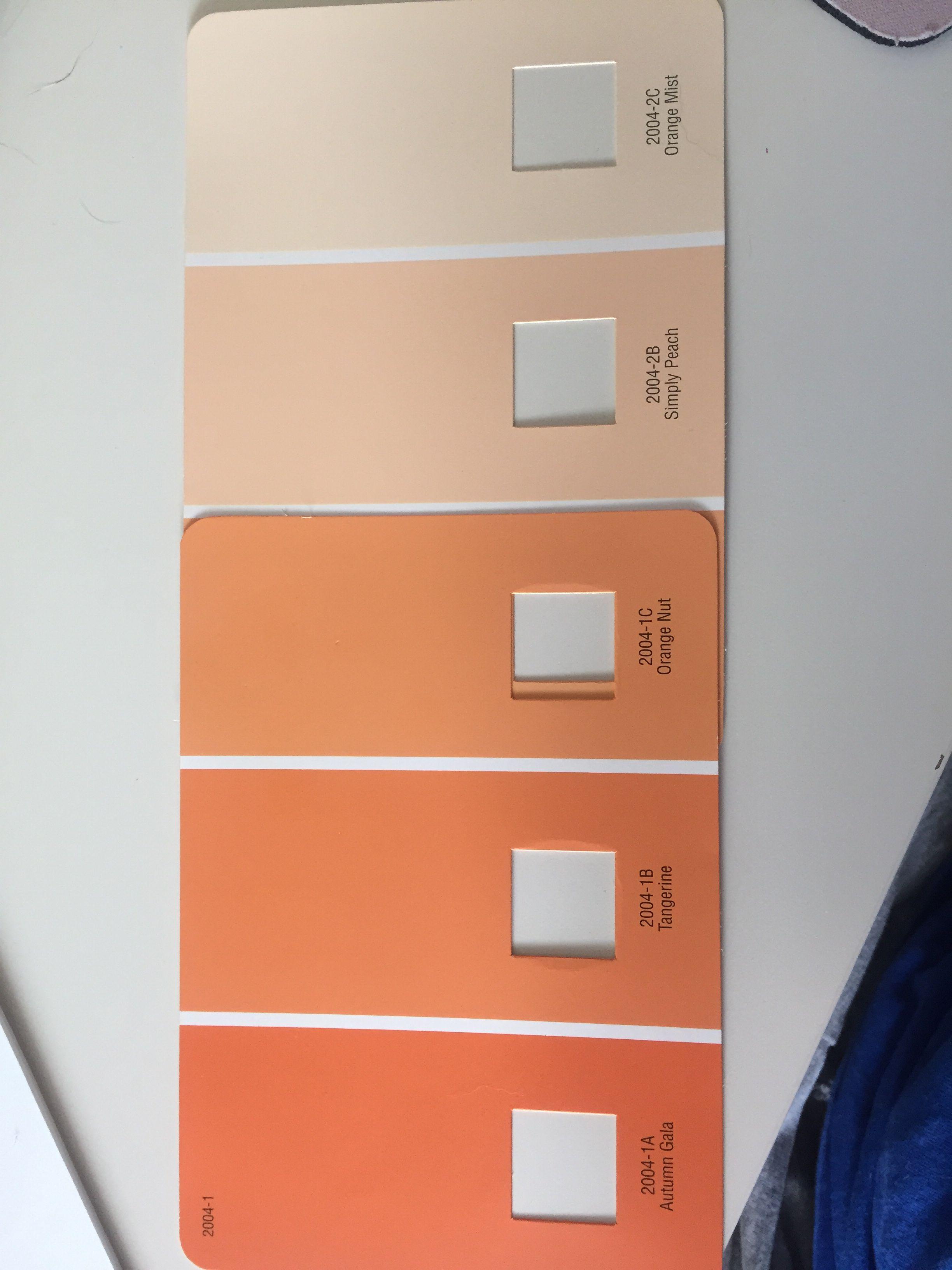Ombré Orange Wall Colors Valspar Paint Mist Simply Peach But Tangerine Autumn Gala