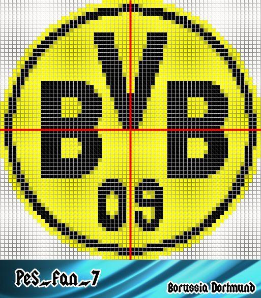 Borussia Dortmund Pixel Art Liverpool Logo Hama Beads