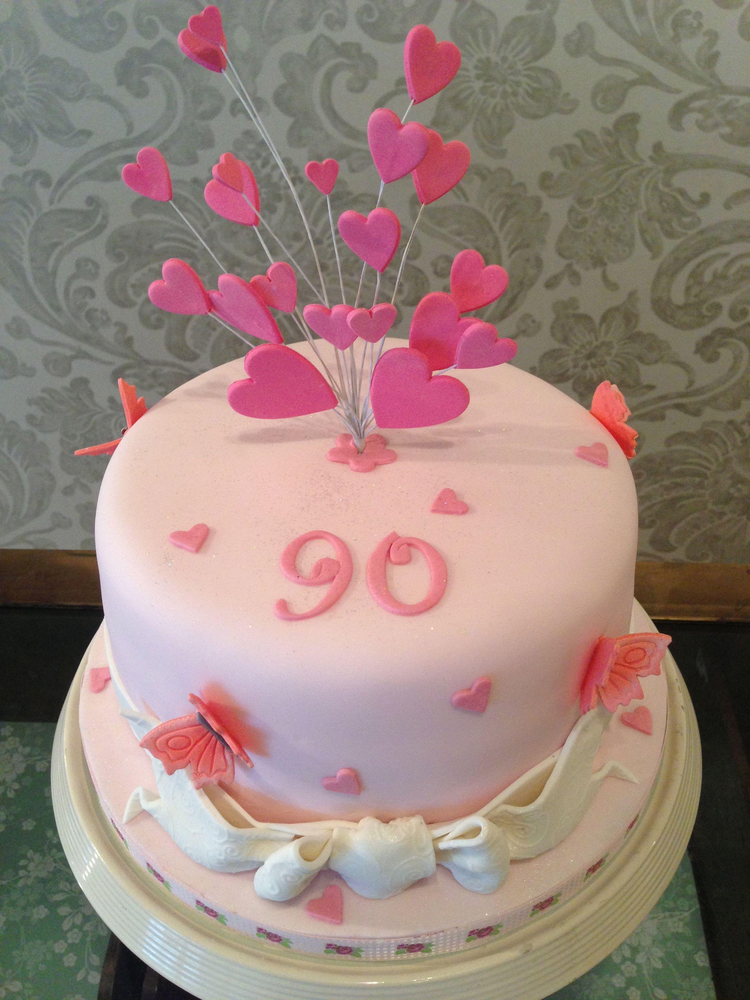 90th birthday cake designs