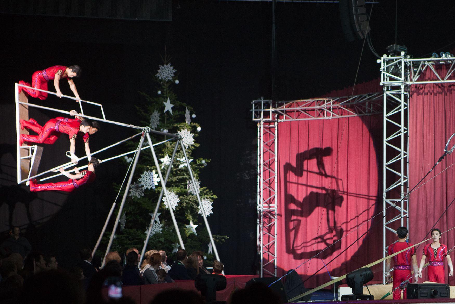 Acrobats at Kerstcircus Ahoy