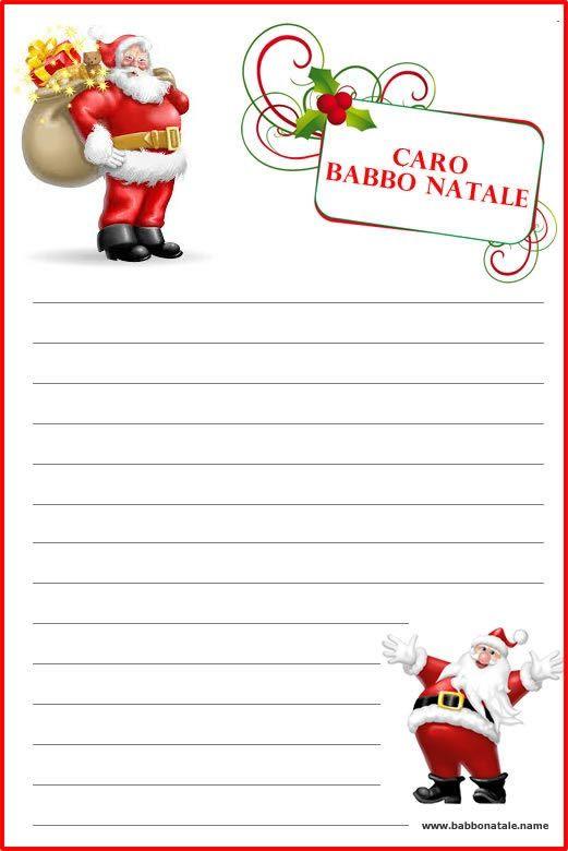 Babbo Natale Letterine.Letterina Babbo Natale Cerca Con Google Letterine Per Babbo