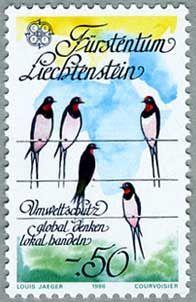 1986 c.e.p.t. europa stamps -
