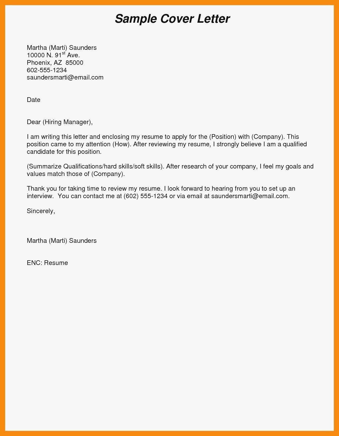 Sample Email Cover Letter For Resume 25 Email Cover Letter Email Cover Letter Cover Letter Job