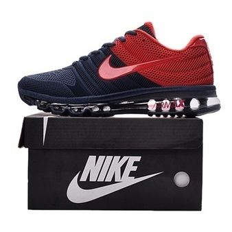 8b97a6d35d05ff The best choice is to buy one pair of Nike Air Max 2017 Dark Blue Red Men  Shoes running shoes