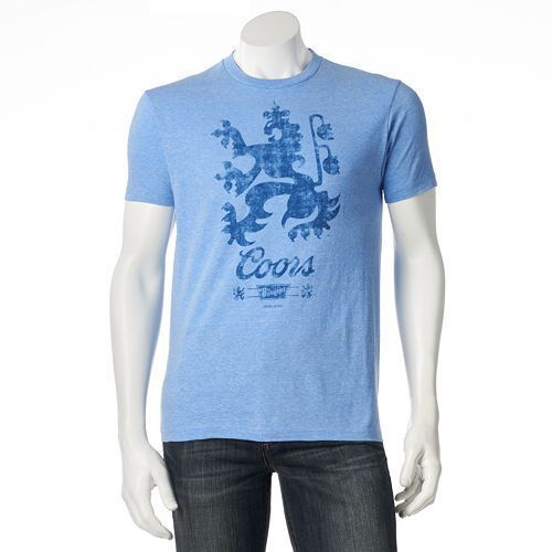 Coors Banquet Men/'s Mountain Logo T-Shirt Blue
