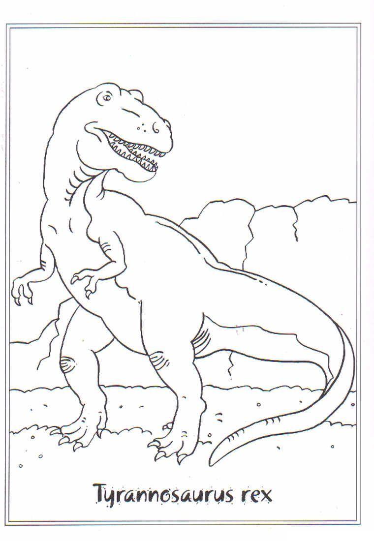 Kidsnfun.de Ausmalbild Dinosaurier 2 Tyrannosaurus rex