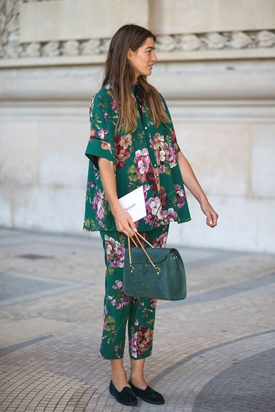 A great floral outfit