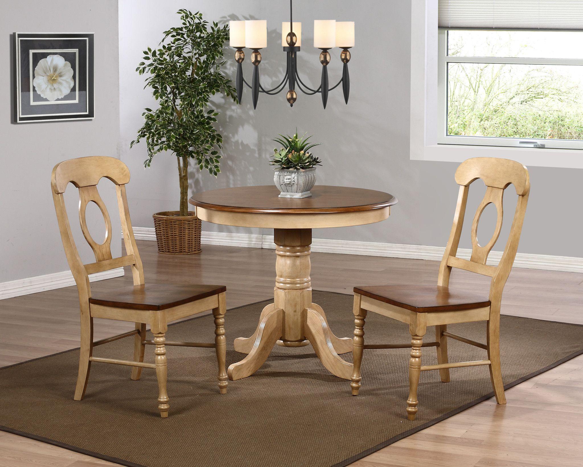 Sunset trading pc brook u dlubrcpwpc round dining set