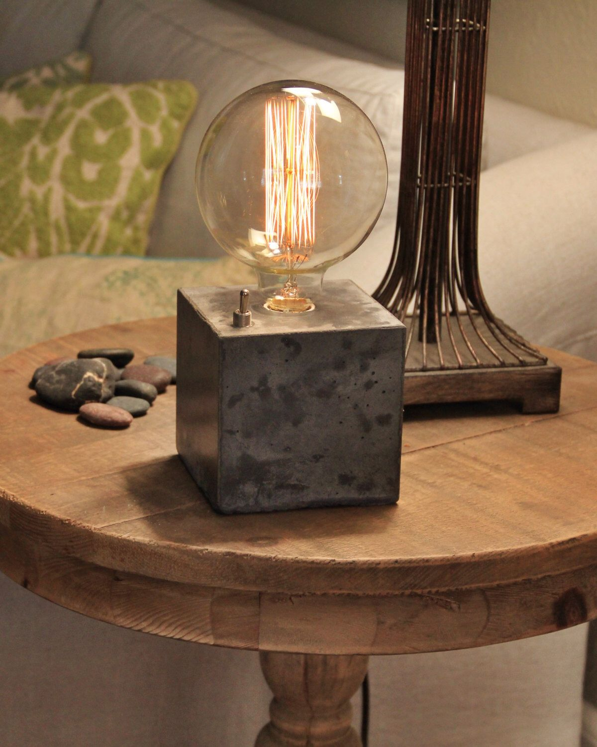 desk lighting ideas. Concrete Cube Desk Lamp - Edison Door ConcreteShopWest Op Etsy Https://www Lighting Ideas G