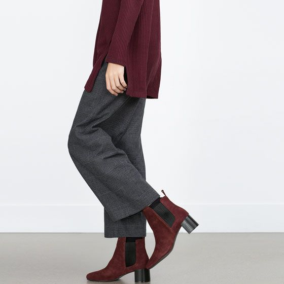 91db3bbea Image 2 of LEATHER BLOCK HEEL ANKLE BOOTS from Zara | Clothes ...