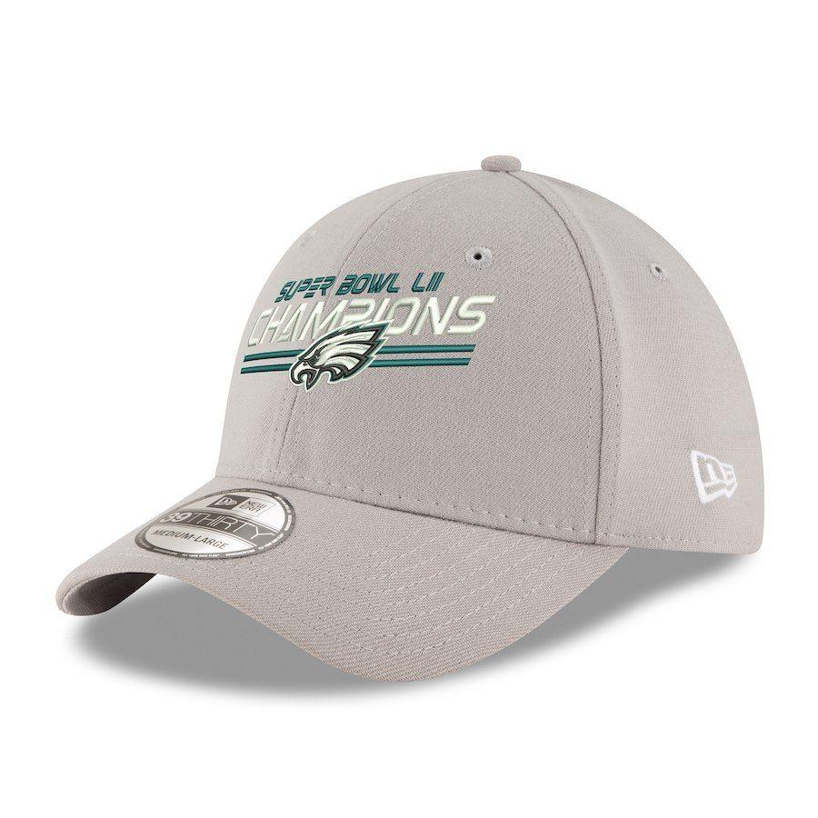 wholesale dealer 99065 b4d28 Philadelphia Eagles New Era Super Bowl LII Champions 39THIRTY Flex Hat –  Gray