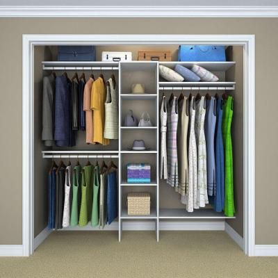 Genial ClosetMaid Selectives 4 Ft.   9 Ft. White 16 In. Basic Closet System  (11 Piece) 17007   The Home Depot