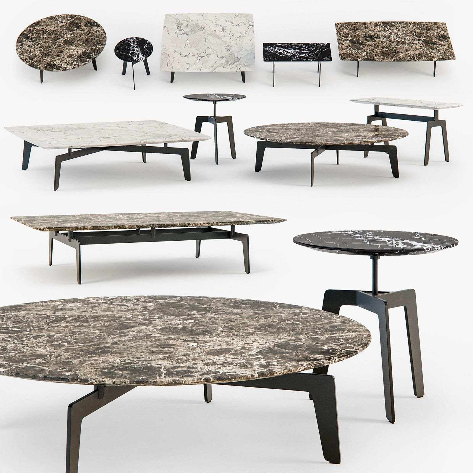 3D Poliform Tribeca Coffee Table Model 3D Model