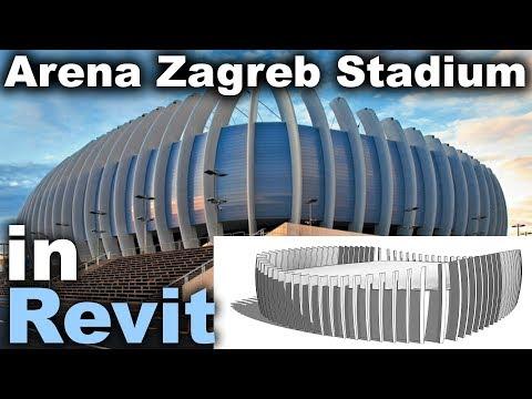 Arena Zagreb Stadium In Revit Tutorial Youtube Revit Tutorial Zagreb Stadium