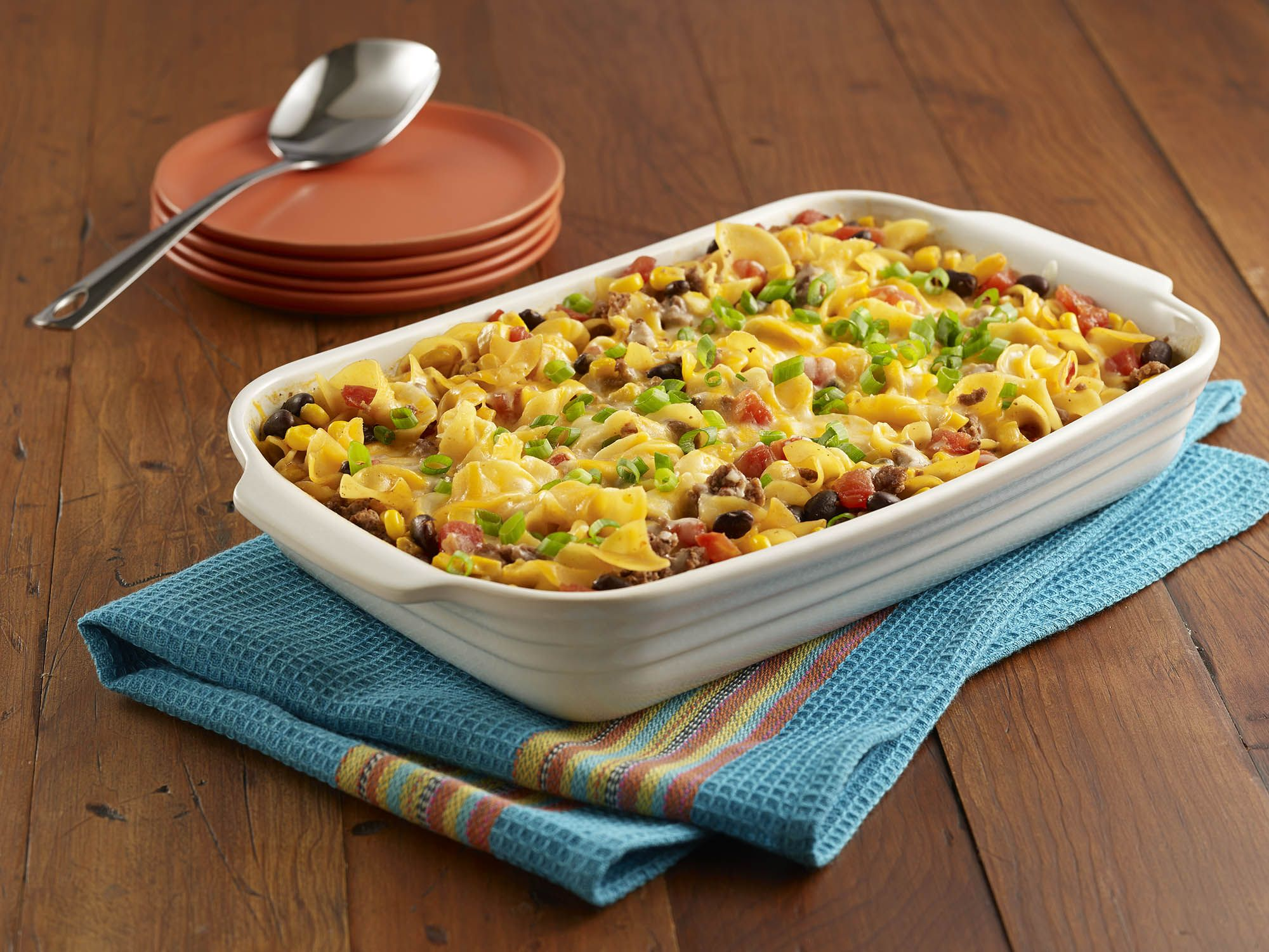 egg noodle casserole recipe with seasoned ground beef