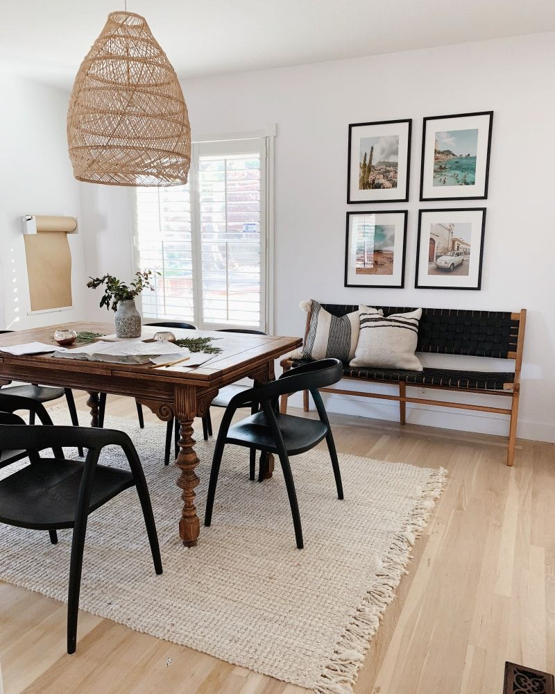 Inside Ashley Petrone's 1300SquareFoot California Home is part of California Bohemian Living Room - Small space minimalism tips and genius DIYs combine in this gorgeous, calming home—which happens to house three small children  See how blogger Ashley Petrone did it, here
