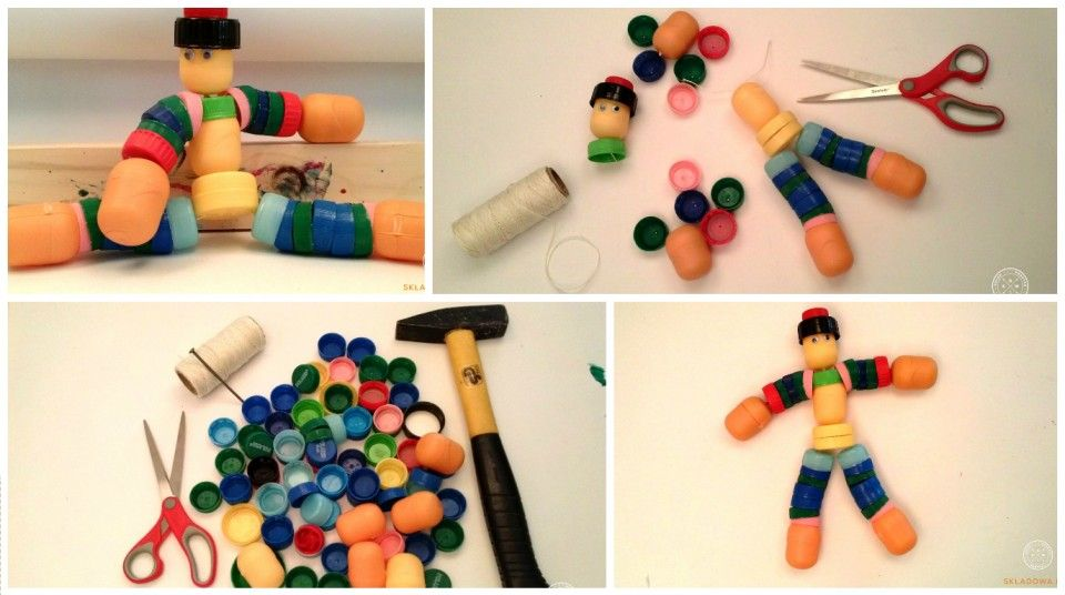 Ekoludek z plastikowych nakrętek | Recykling, Zabawki, Dla
