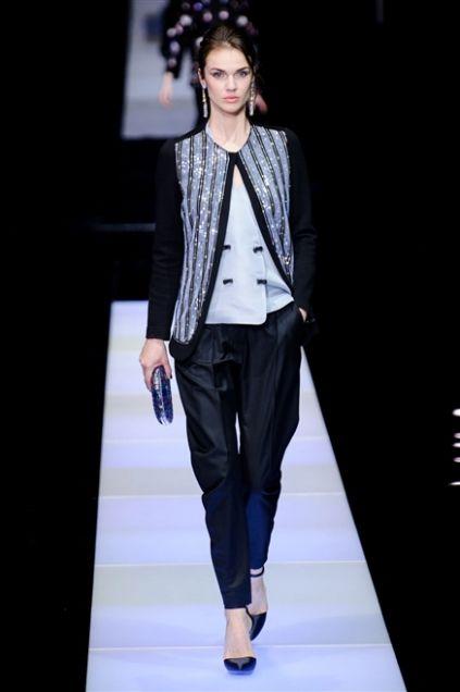 Sfilata Giorgio Armani - Autunno-Inverno 2015-2016 - Milano - Moda - Elle