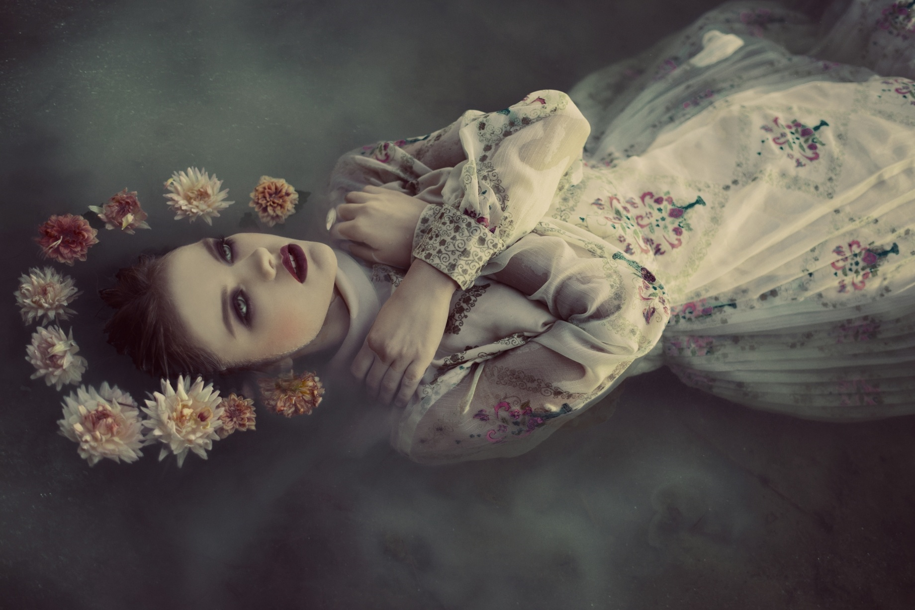 Head Full Od Dead Flowers By Voodica Photography Model Wiktoria Gomulka