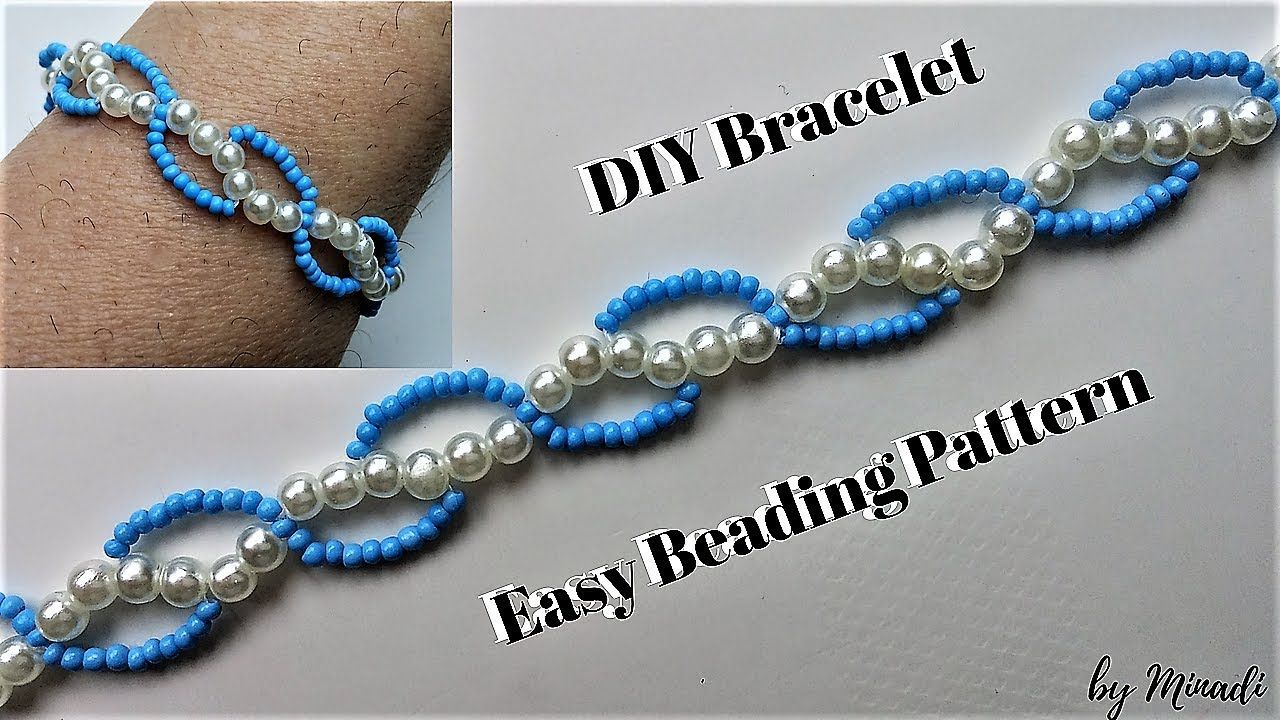 Beaded Bracelet Easy Beading Tutorial Diy Simple Pattern You