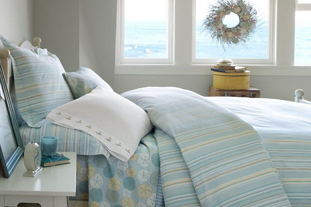 L L Bean Sand Dollar Percale Bedding With Images Home Bedroom