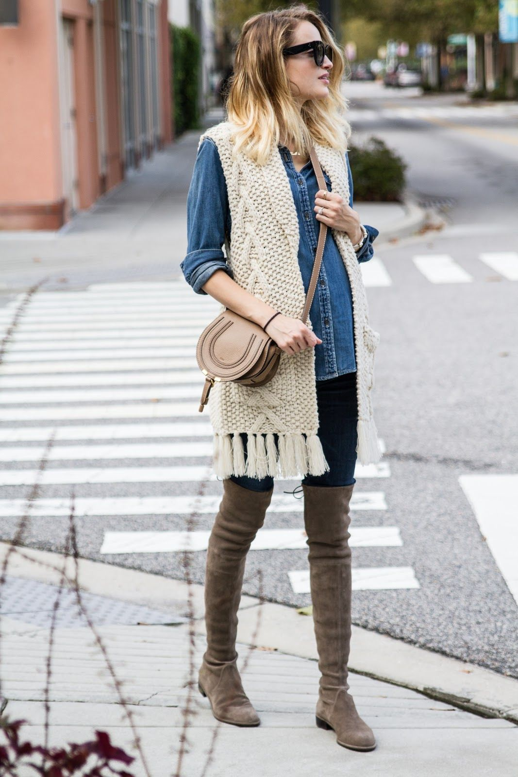 Little Blonde Book by Taylor Morgan | A Life and Style Blog : Fringe Vest & Sued…