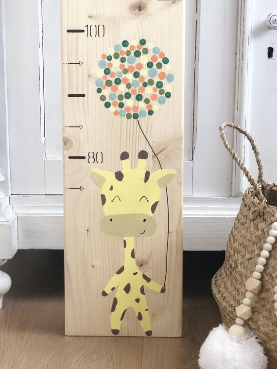 Photo of Child's Latte / Giraffe / Height Chart / Growth Chart / Personalized Gift