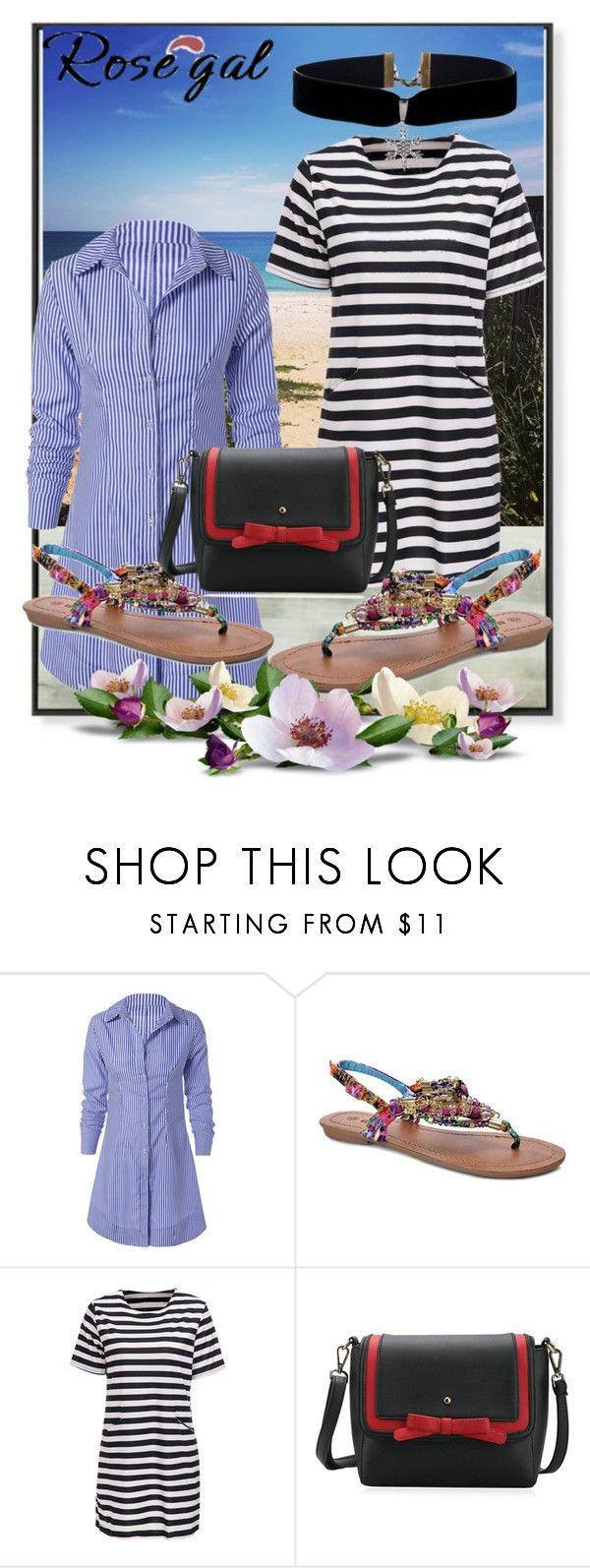 """""""Polo Shirt Dress...-81"""" by nihada-niky ❤ liked on Polyvore featuring women, fashionset and rosegal"""