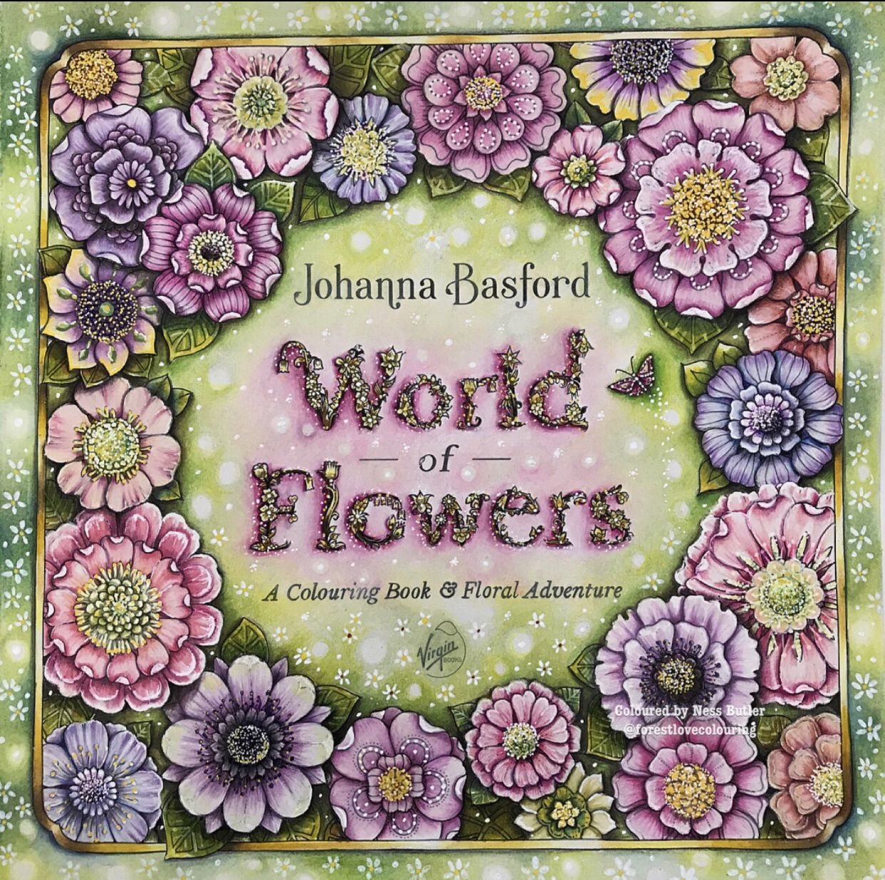 World Of Flowers Johanna Basford Coloring Book Ness Butler Art