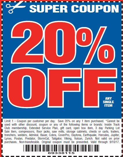 Harbor Freight 20 Off