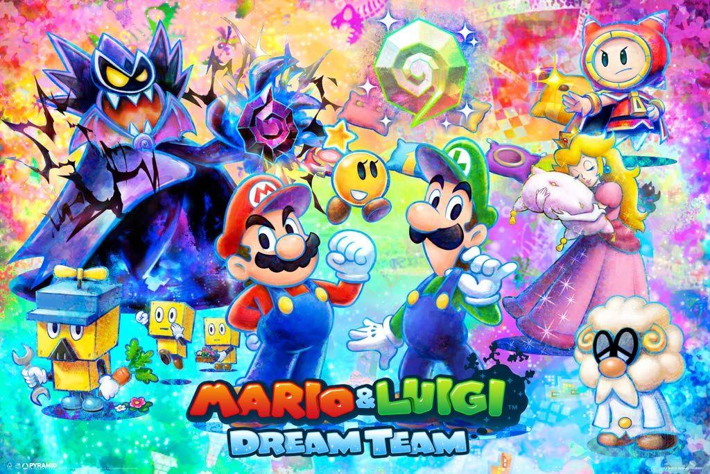 Mario Luigi Dream Team Poster Posters Art Prints Mario And Luigi Cool Wall Decor