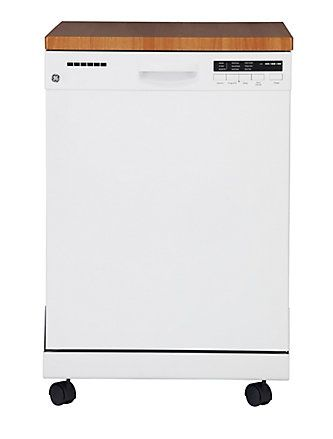 GE 24-inch Portable Dishwasher with Stainless Steel Tub in ...