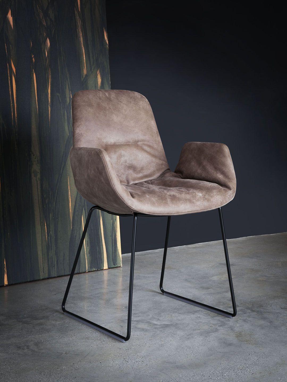 Tonon Step Leder Armchair Designer Stuhl Mit Armlehnen In Leder Soft Lederstuhle Armlehnen Stuhle