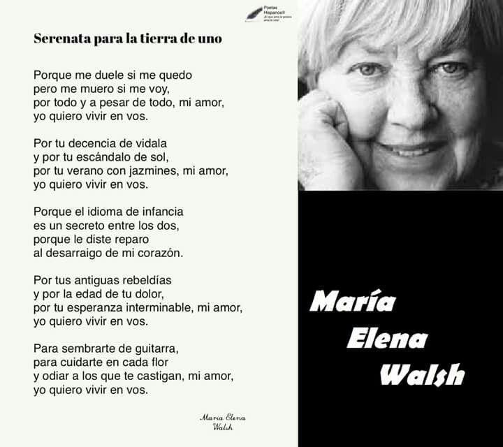 Maria Elena Walsh Argentina Los Mejores Poemas Que Me