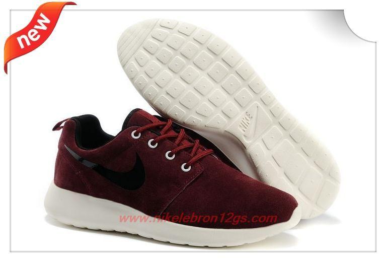 Nike Roshe Run 511881 019 Wine Red Dark Black Sails White Factory