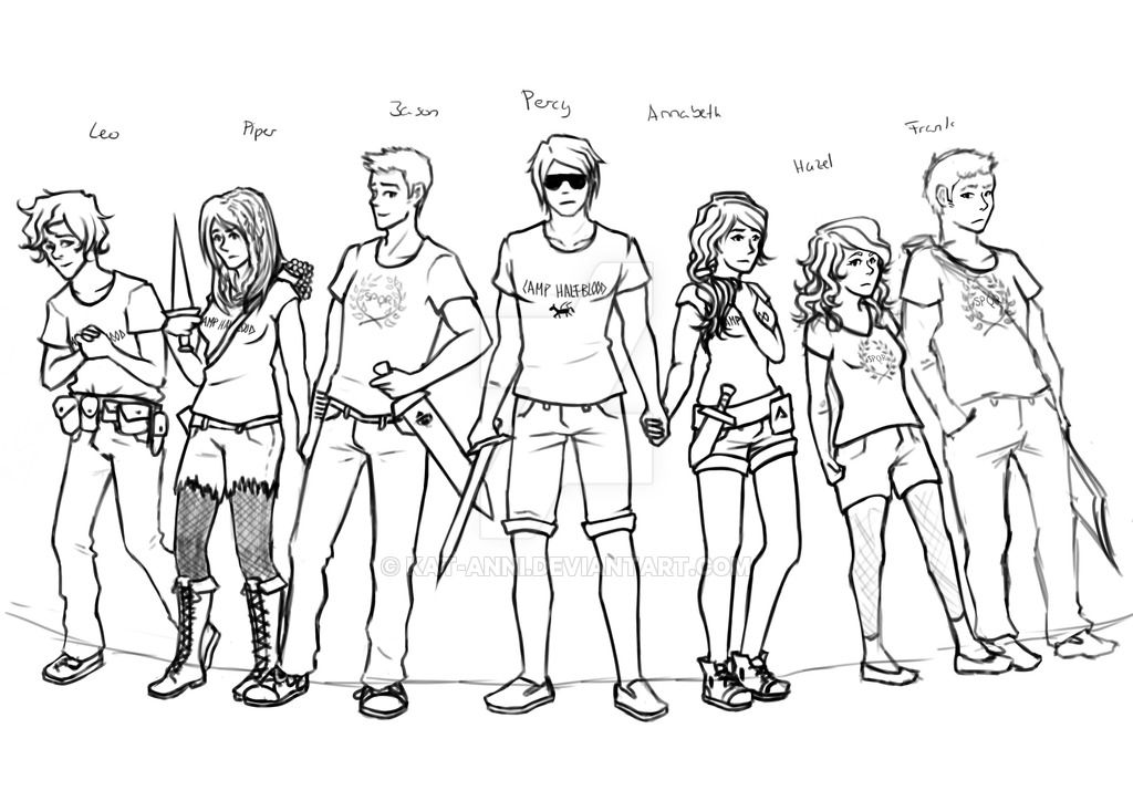The Heroes Of Olympus Wip By Kat Anni On Deviantart