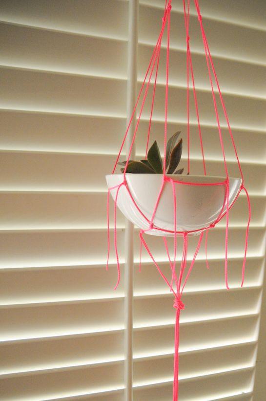 Simple Macram Plant Hanger Instructions Craft Ideas Pinterest