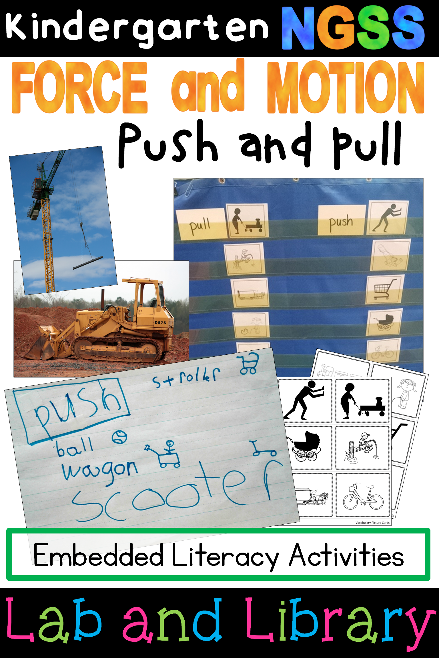 Kindergarten Ngss Force And Motion Push And Pull Activities Kindergarten Science In This Mini Ngss Unit On Pushes And Pu Force And Motion Pushes And Pulls Ngss [ 2304 x 1536 Pixel ]