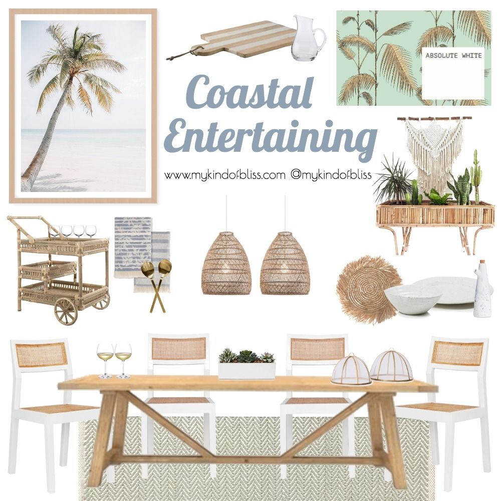Pull Up A Chair And Relax With Friends And Family At This Coastlal Inspired Dini Family Room Design Interior Design Living Room Warm Boho Dining Room