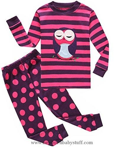 31768043c555c Baby Girl Clothes Family Feeling Owl Baby Girls Infant 2 Piece 100% Cotton Pajamas  Sets Kids Pjs Sleepwear 18-24 Months