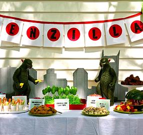 Monster Godzilla Birthday Theme Parties Nashville