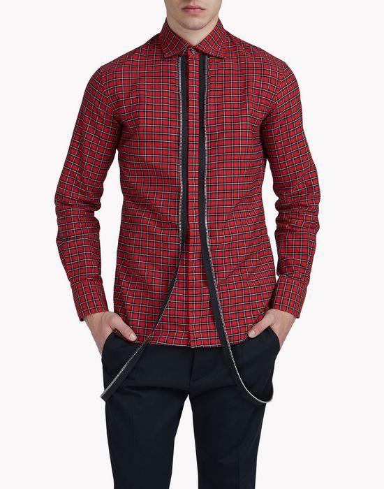 Check Zip Shirt - Chemise Homme - Dsquared2 boutique en ligne officielle 37ab8459e89