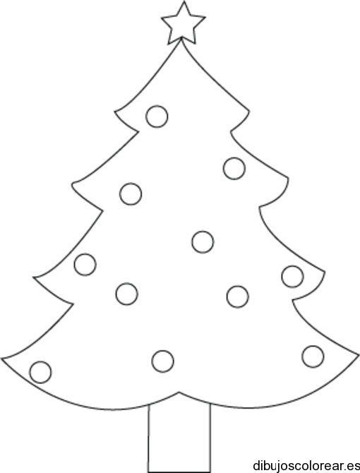 Dibujo De Un Arbolito De Navidad Para Colorear