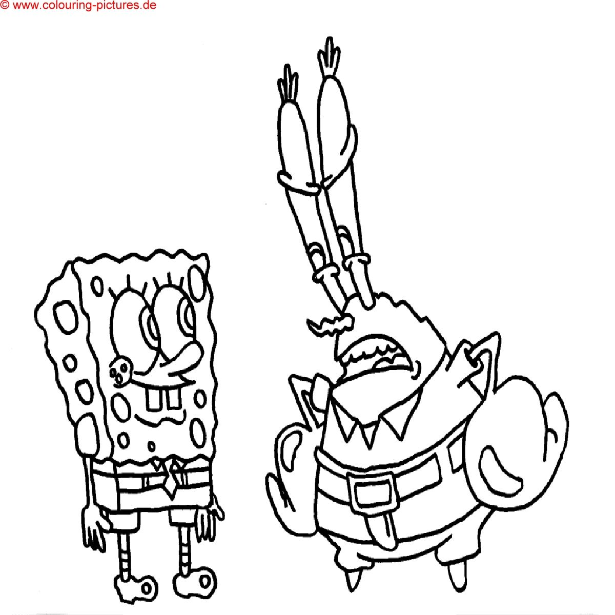 Ausmalbilder Zum Ausdrucken Sponge Bob Spongebob Coloring Mr Krabs Coloring Pages
