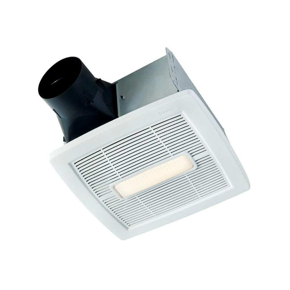 Nutone Invent Series 110 Cfm Ceiling Installation Bathroom Exhaust Fan With Light Energy Star Aern110l Exhaust Fan