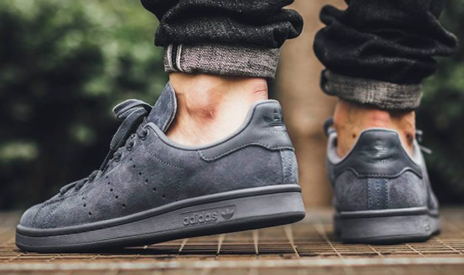 Adidas Stan Smith Suede Gray